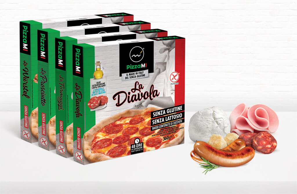 pizza made in italy gluten free private label